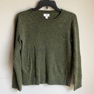 J crew Teddie wool sweater green size small